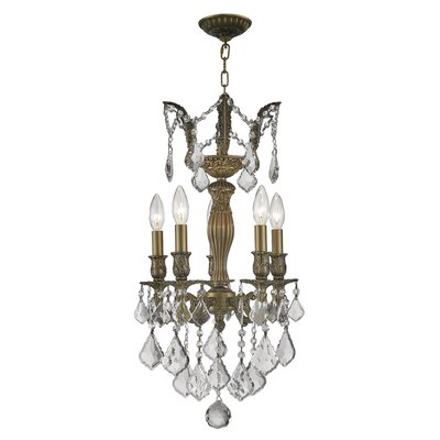 Newman 1 Tier 5-Light Crystal Chandelier