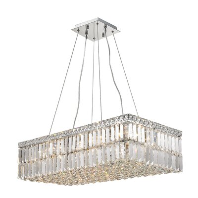 Boshears 1 Tier 16-Light Crystal Chandelier