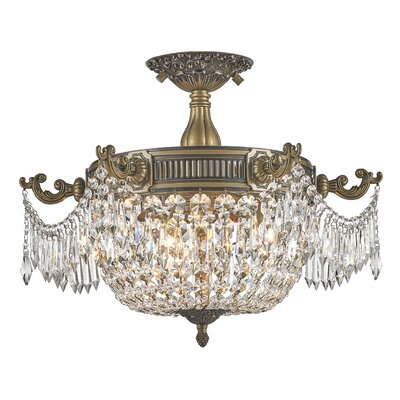 Baden Atwood 3-Light Semi Flush Mount