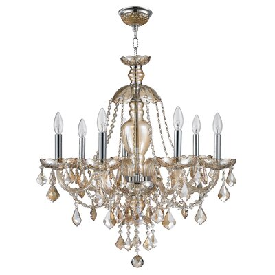 Raven 1 Tier Crystal 7-Light Candle-Style Chandelier