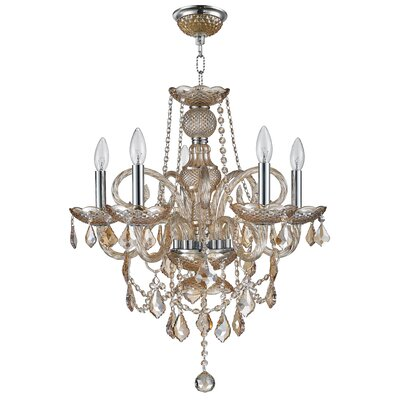 Rayburn 2 Tier Crystal 5-Light Candle-Style Chandelier