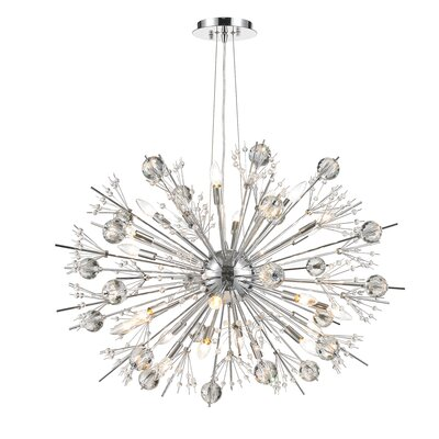 Stephaine Crystal 24-Light Sputnik Chandelier