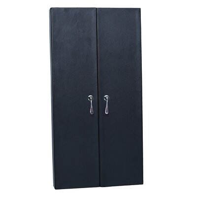 Faux Leather Wall Mounted Jewelry Armoire with Mirror