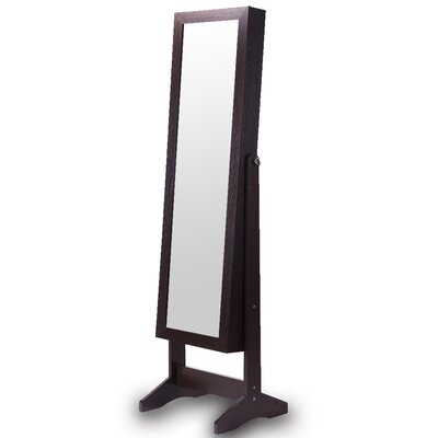 Wooden Jewelry Armoire with Mirror