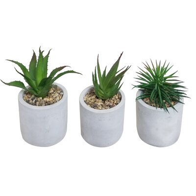 3 Piece Mini Home Faux Artificial Plants in Pot