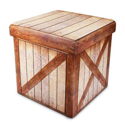 Mowrey Wood Pattern Folding Storage Ottoman