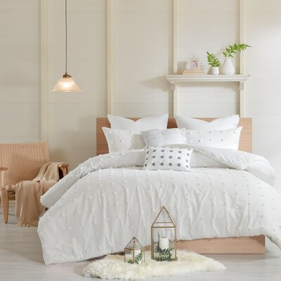 Sherry Cotton Comforter Set Size: King/Califonia King, Color: Ivory