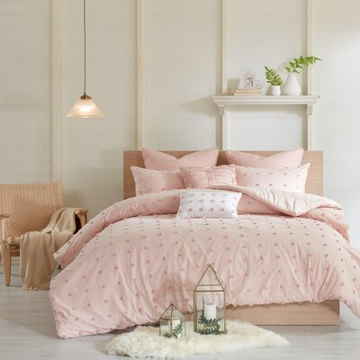 Sherry Cotton Comforter Set Size: Full/Queen, Color: Pink