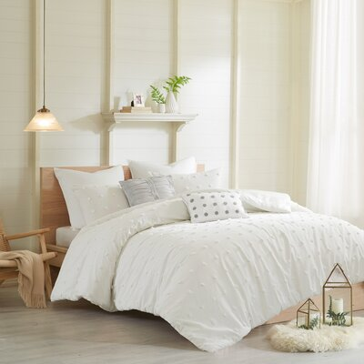 Sherry Cotton Duvet Set Size: Twin/Twin XL, Color: Ivory