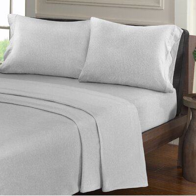 Creve 100% Cotton Sheet Set Size: Twin, Color: Light Gray