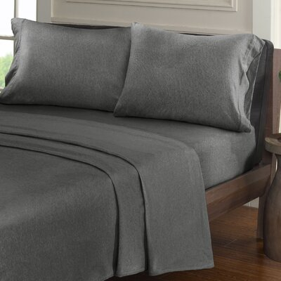 Creve 100% Cotton Sheet Set Size: King, Color: Charcoal