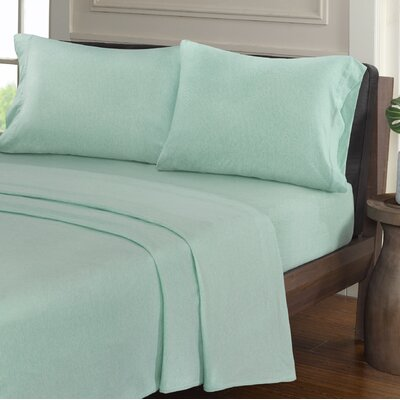 Creve 100% Cotton Sheet Set Size: Queen, Color: Aqua