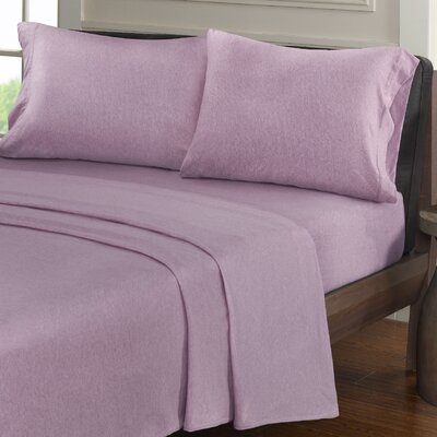 Creve 100% Cotton Sheet Set Size: Full, Color: Purple