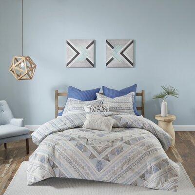 Eisenbarth 100% Cotton 7 Piece Reversible Comforter Set Size: King/Cal King