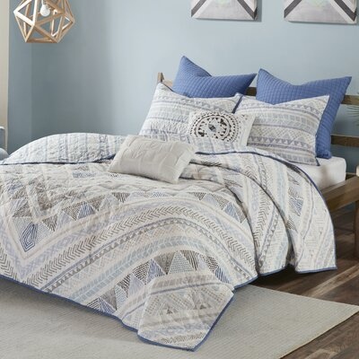 Eisenbarth 100% Cotton 7 Piece Reversible Coverlet Set Size: King/Cal King