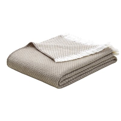 Upper Swainswick Fringe Throw Color: Tan