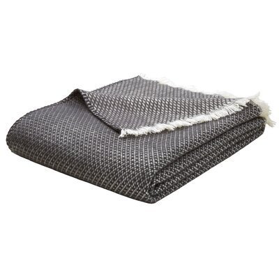 Upper Swainswick Fringe Throw Color: Charcoal