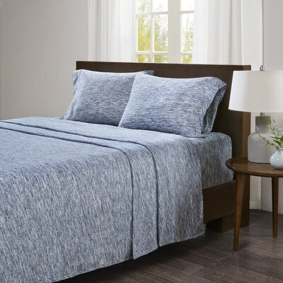 Dahlke Jersey Sheet Set Size: King, Color: Blue