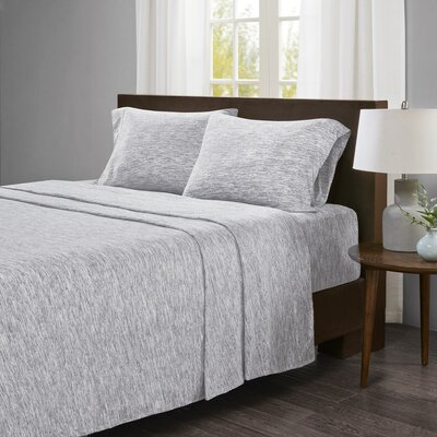 Dahlke Jersey Sheet Set Size: King, Color: Gray