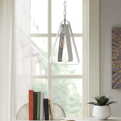 Nolin 1-Light Geometric Pendant Finish: White