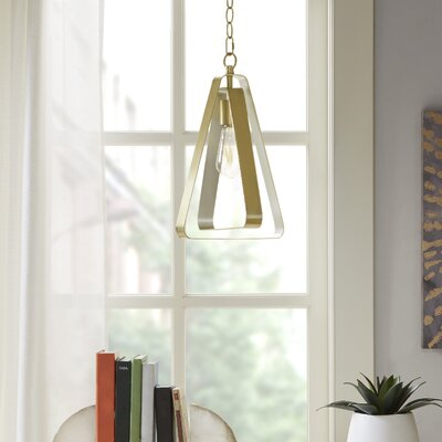 Nolin 1-Light Geometric Pendant Finish: Gold/Silver