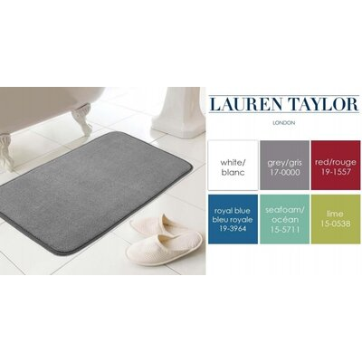 Castellano Memory Foam Bath Mat Color: Gray