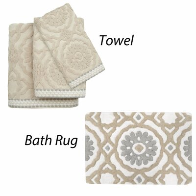 Andrea Cotton Jacquard 4 Piece Towel Set