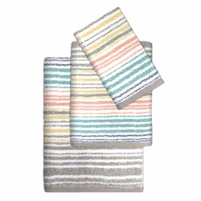 Paxton Cotton Striped 3 Piece Towel Set