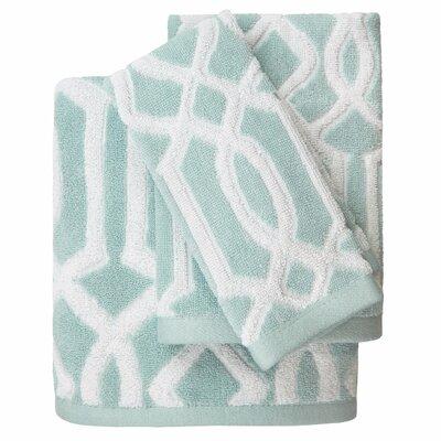 Megan Cotton Jacquard 3 Piece Towel Set