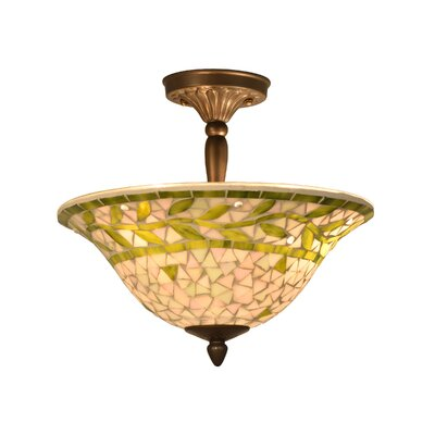 Cadena 3-Light Semi Flush Mount