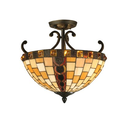 Baroque 2-Light Semi Flush Mount