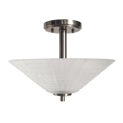 Houston Crystal 1-Light Semi Flush Mount
