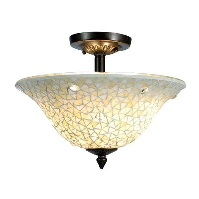 Jeweled 3-Light Semi Flush Mount