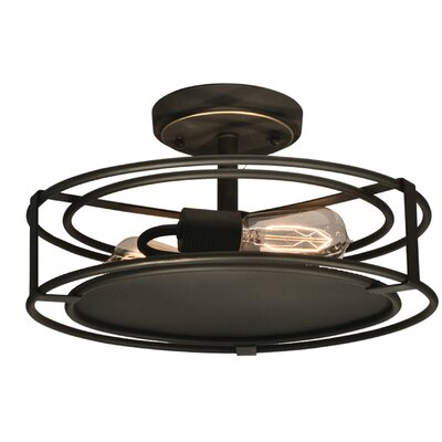 Peter 2-Light Semi Flush Mount