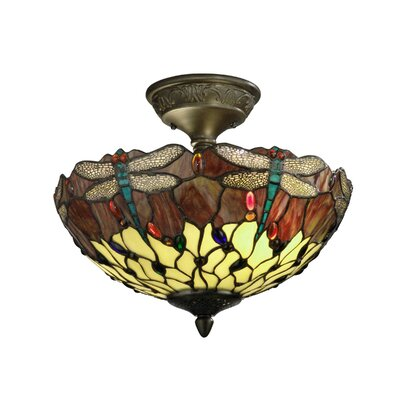 Corrall Dragonfly 2-Light Semi Flush Mount