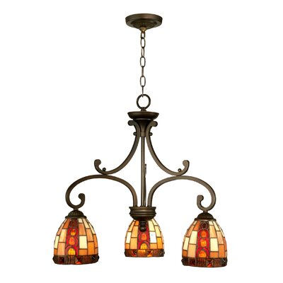 Baroque 3-Light Kitchen Island Pendant