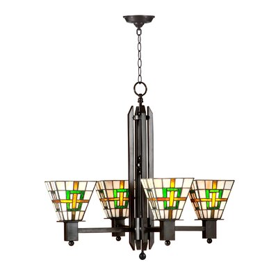 Brune Mission 4-Light Kitchen Island Pendant