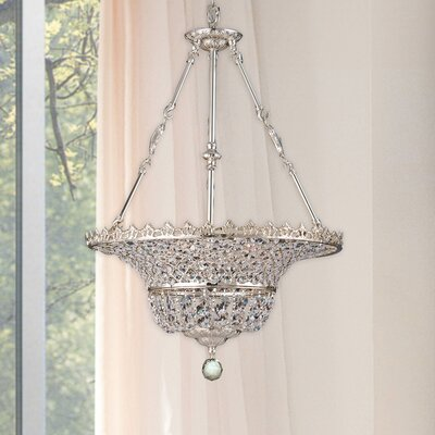 Kreigal 6-Light Crystal Bowl Pendant