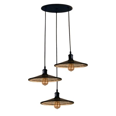 Boldero 3-Light Cascade Pendant