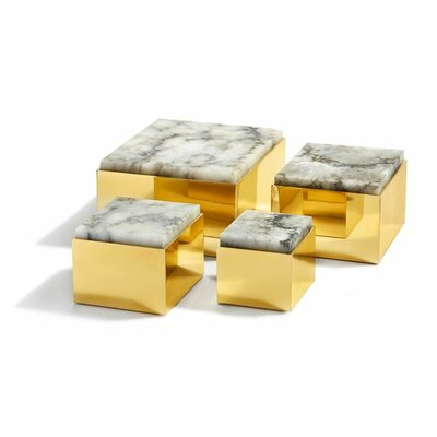 "Scatola Brass Box Size: 3.25"" H X 3.5"" W X 3.5"" D"