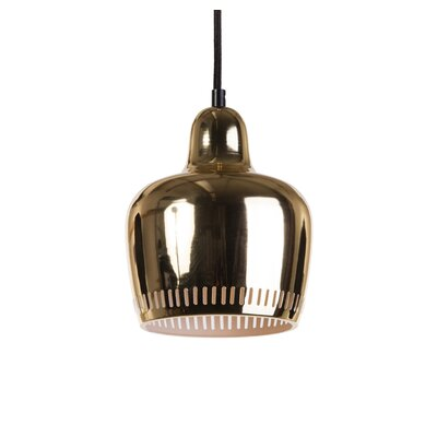 Irving 1-Light Mini Pendant Shade Color: Gold