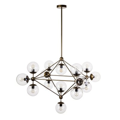 Hodge 15-Light Pendant Finish: Brass