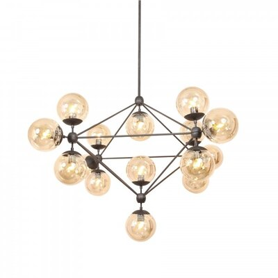 Hodge 15-Light Pendant Finish: Black