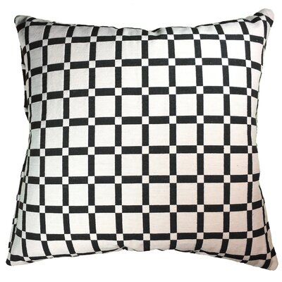 Checkerboard 100% Cotton Throw Pillow