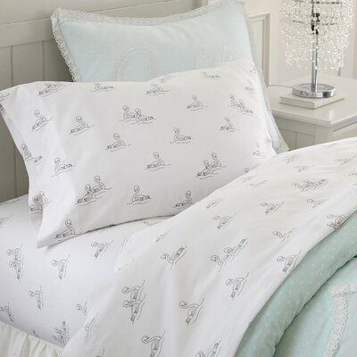 Swan Lake Cotton Sheet Set Size: Twin