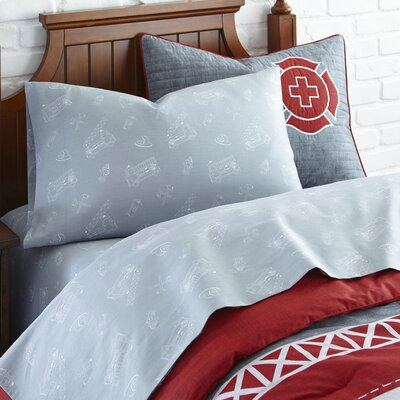 Fire Fighter Cotton Sheet Set Size: Twin
