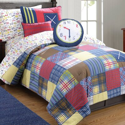 Preppy Plaid Down Comforter Set Size: Twin