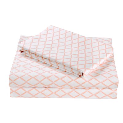 2 Piece Darling Diamond Cotton Sheet Set