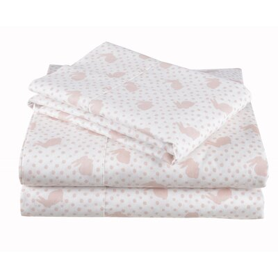 4 Piece Bunny Hop Cotton Sheet Set