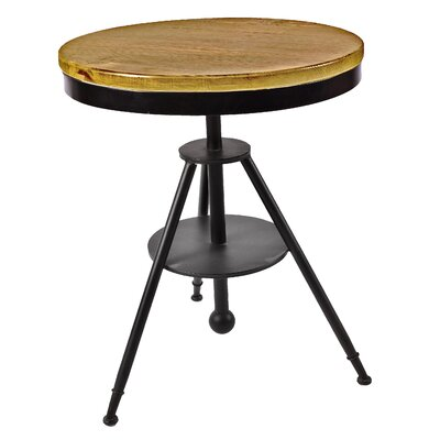 Darcie Industrial Tripod Adjustable Pub Table